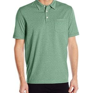 Polo w left pocket & self collar in smoke pine NWT